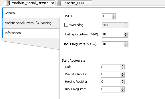 Connecting/communicating with a Modbus device |